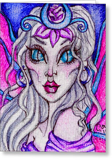 Portrait Of A Sidhe Queen- Altheia Greeting Card by Coriander  Shea
