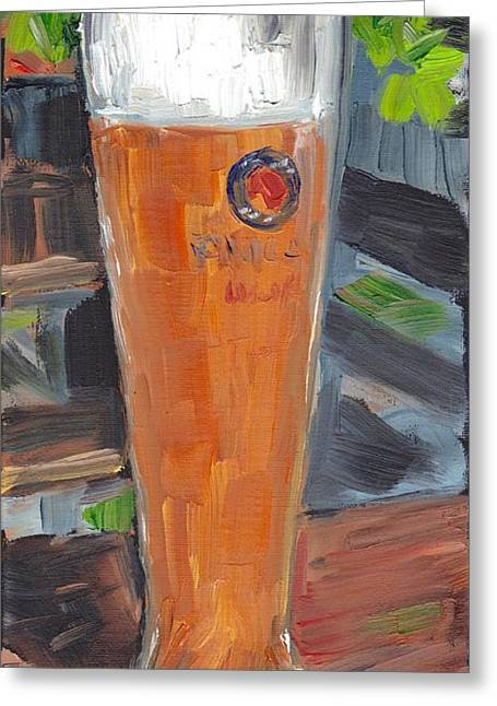 Portrait Of A Weissbier Greeting Card
