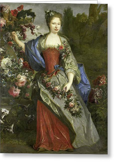 Portrait Of A Woman, According To Tradition Marie Louise Greeting Card by Litz Collection