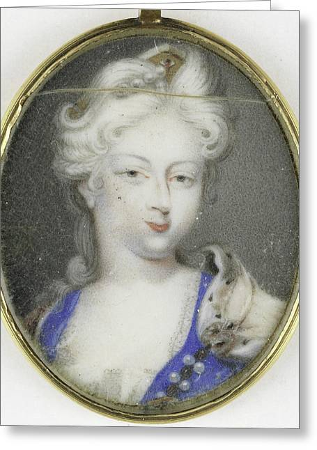 Portrait Of A Woman, Presumably Christiane Charlotte Greeting Card by Litz Collection