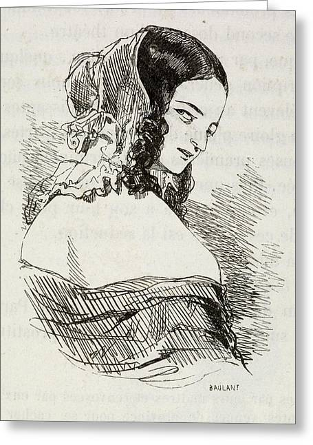 Portrait Of A Young Woman. Greeting Card by British Library