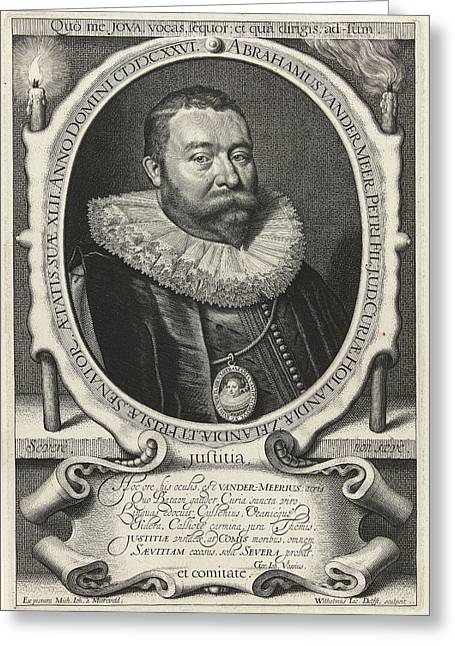 Portrait Of Abraham Van Der Meer At The Age Of 42 Greeting Card