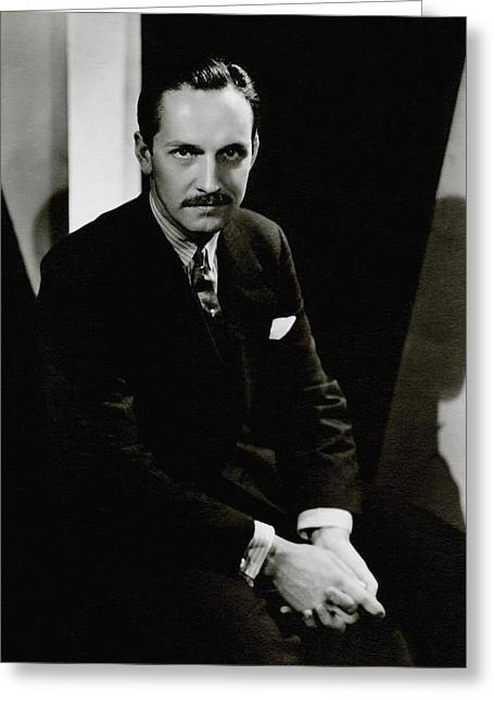 Portrait Of Actor Frederick March Greeting Card by Tony Von Horn