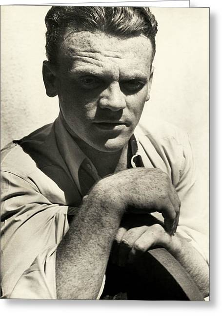 Portrait Of Actor James Cagney Greeting Card by Imogen Cunningham