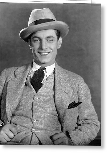 Portrait Of Actor Rex Lease Greeting Card
