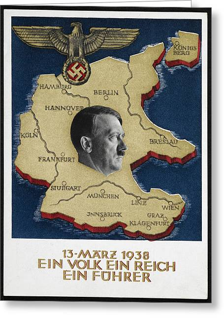 Portrait Of Adolf Hitler Greeting Card by British Library