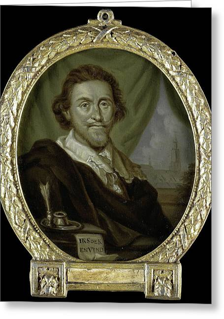 Portrait Of Adriaen Pietersz Van De Venne Greeting Card by Litz Collection