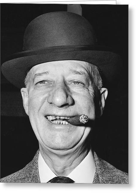 Portrait Of Al Smith Greeting Card by Underwood Archives