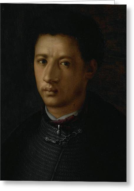 Portrait Of Alessandro De Medici, Anonymous Greeting Card by Litz Collection