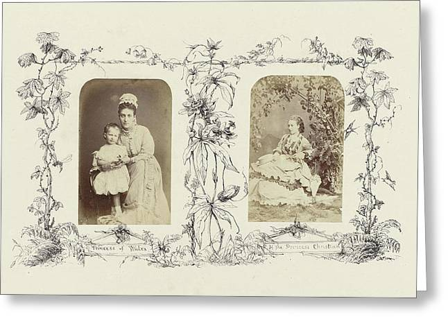 Portrait Of Alexandra, Princess Of Wales With Child Greeting Card by Artokoloro