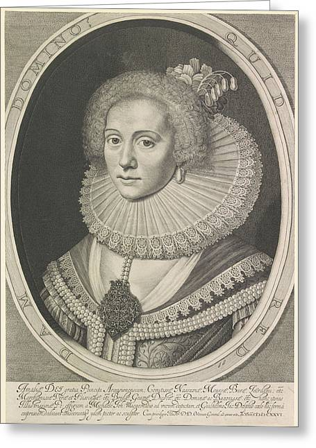 Portrait Of Amalia Van Solms, Anonymous Greeting Card