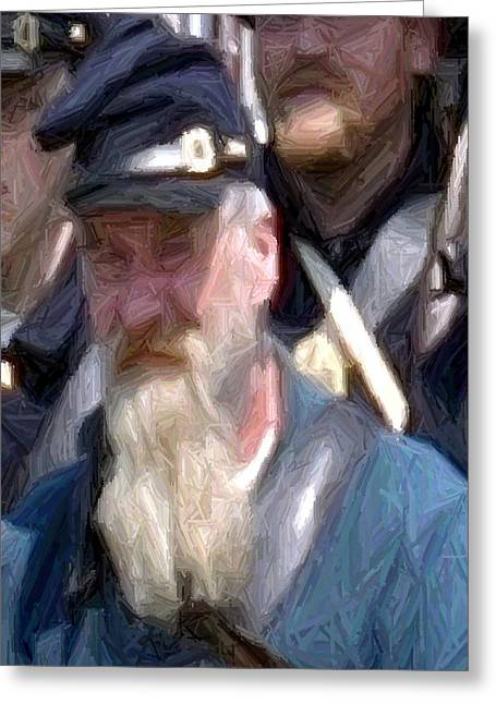 Portrait Of An Old Union Soldier Perryville Ky Greeting Card