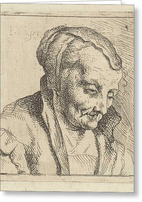 Portrait Of An Old Woman, Peter Snijers Greeting Card