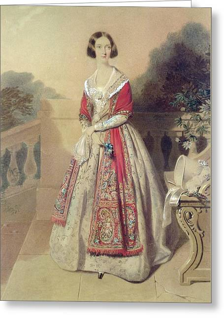 Portrait Of An Unknown Lady  Greeting Card by William Buckler