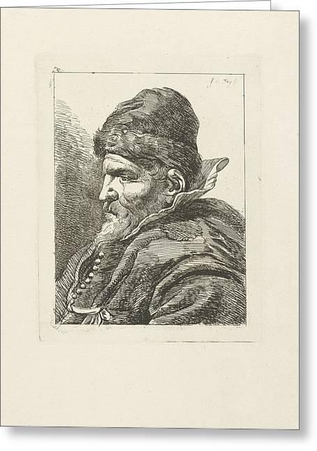 Portrait Of An Unknown Old Man, Johannes Pieter De Frey Greeting Card