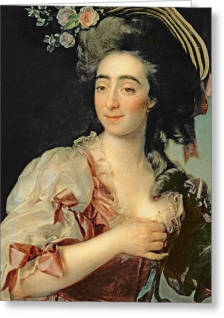 Portrait Of Anna Davia Bernucci Greeting Card by Dmitri Grigorevich Levitsky