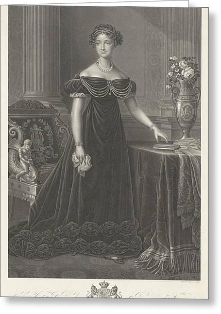 Portrait Of Anna Pavlovna Romanowa, Johann Nepomuk Gible Greeting Card by Johann Nepomuk Gib?le And James Hopwood (ii) And J.l. Van Bever