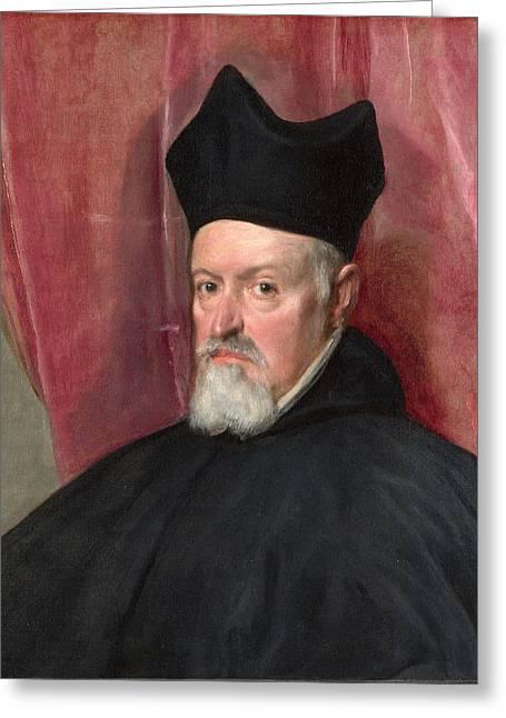 Portrait Of Archbishop Fernando De Valdes Greeting Card