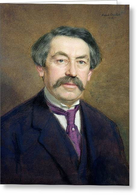Portrait Of Aristide Briand 1862-1932 1916 Pastel On Paper Greeting Card