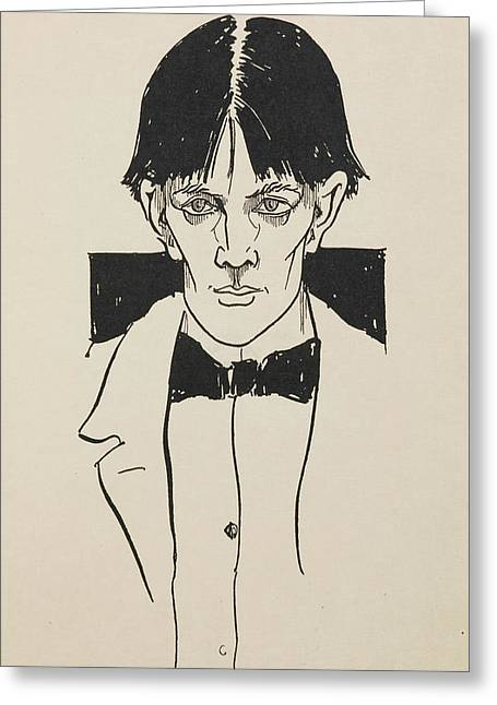 Portrait Of Aubrey Beardsley Greeting Card