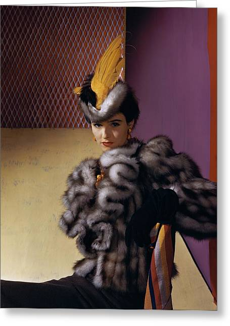 Portrait Of Babe Paley Greeting Card by Horst P. Horst
