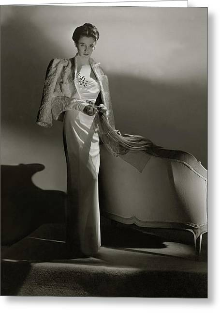 Portrait Of Barbara Cushing Greeting Card by Horst P. Horst