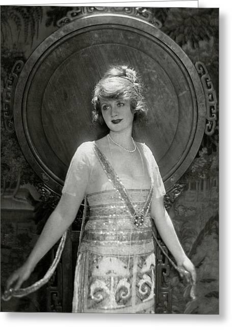 Portrait Of Billie Burke Greeting Card by Baron Adolphe De Meyer
