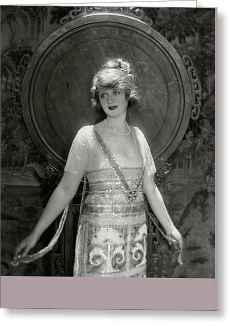 Portrait Of Billie Burke Greeting Card by Adolphe De Meyer