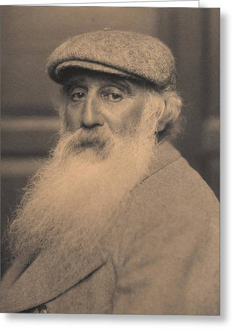 Portrait Of Camille Pissarro 1830-1903 Bw Photo Greeting Card