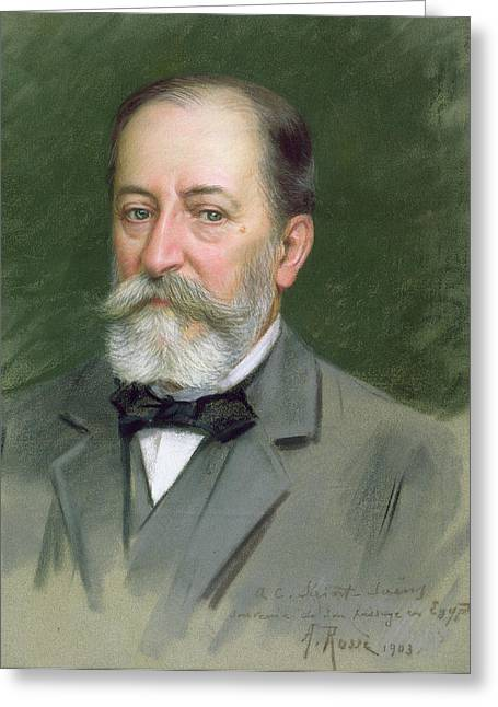 Portrait Of Camille Saint-saens Greeting Card by Alberto Rossi