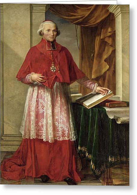 Portrait Of Cardinal Joseph Fesch 1763-1839 1806 Oil On Canvas Greeting Card by Charles Meynier