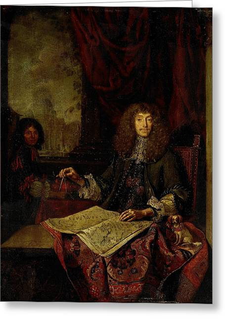 Portrait Of Carel Quina 1620-89, Knight Of The Holy Greeting Card