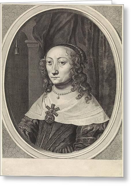 Portrait Of Catherina Charlotta, Countess Palatine Greeting Card