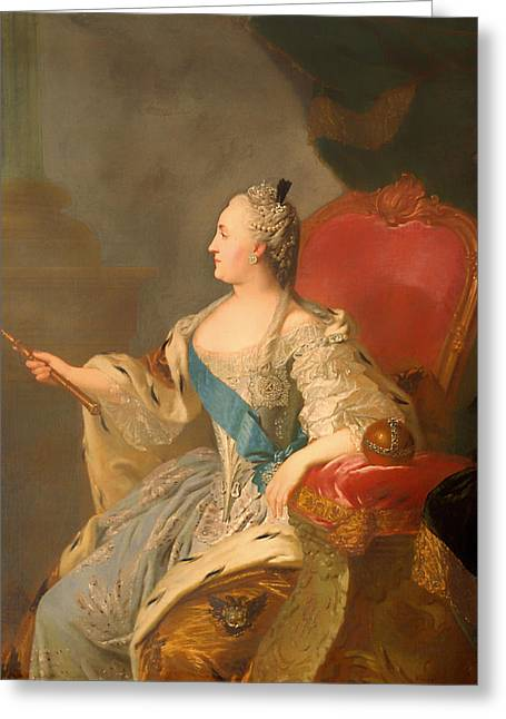 Portrait Of Catherine II Greeting Card by Mountain Dreams
