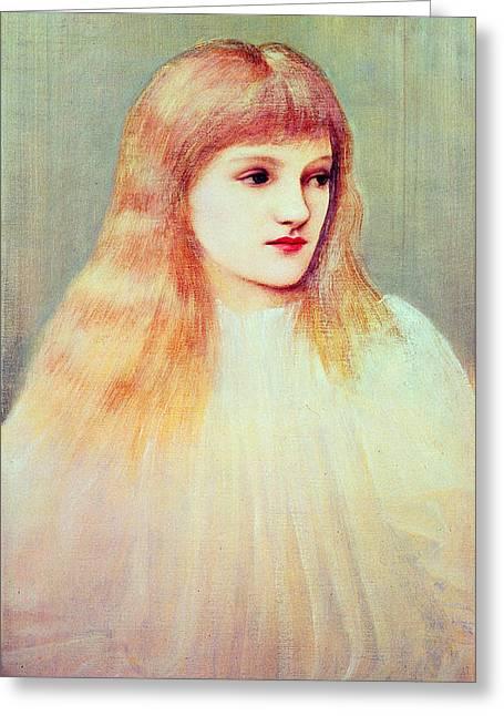 Portrait Of Cecily Horner, 1895 Greeting Card by Sir Edward Coley Burne-Jones