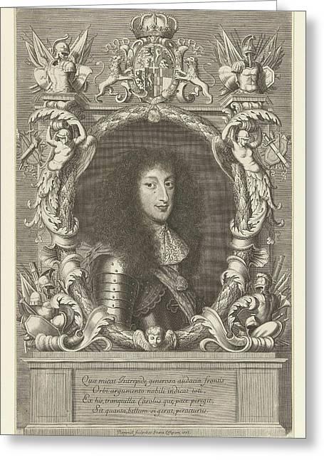 Portrait Of Charles Emmanuel II, Robert Nanteuil Greeting Card by Robert Nanteuil