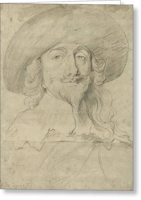 Portrait Of Charles I Greeting Card