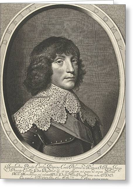 Portrait Of Charles Louis, Accept Prince Of The Palatinate Greeting Card