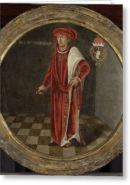Portrait Of Charles The Bold, Duke Of Burgundy Greeting Card by Litz Collection