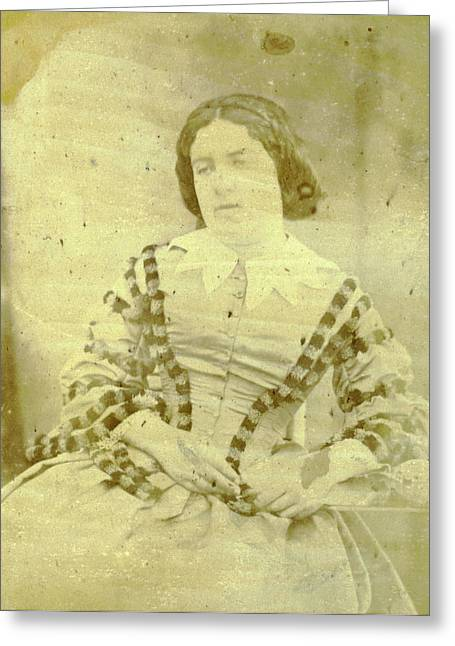 Portrait Of Charlotte Asser, Eduard Isaac Asser Greeting Card by Artokoloro