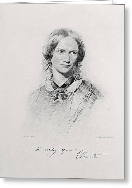 Portrait Of Charlotte Bronte, Engraved Greeting Card