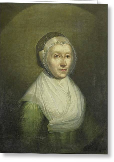 Portrait Of Christina Sebilla Charlotte Bakhuizen Greeting Card by Litz Collection