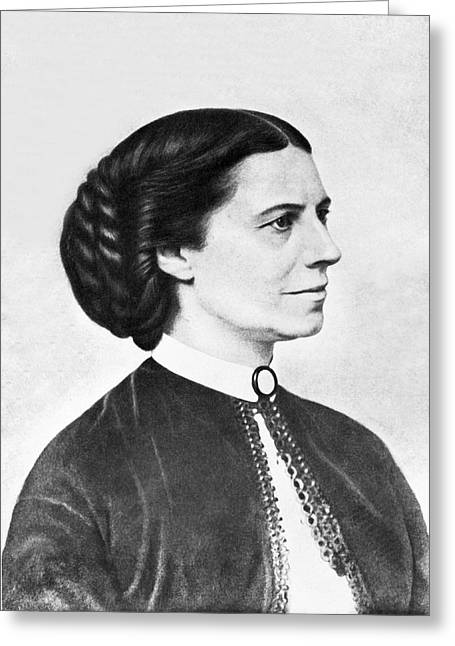 Portrait Of Clara Barton Greeting Card
