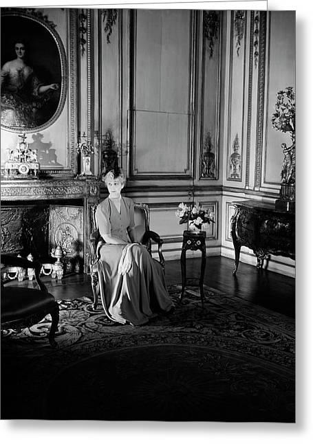 Portrait Of Consuelo Vanderbilt Greeting Card by Horst P. Horst