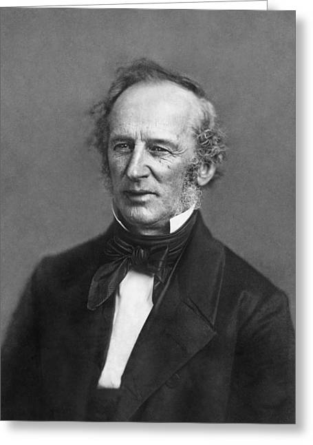 Portrait Of Cornelius Vanderbilt Greeting Card by Matthew Brady