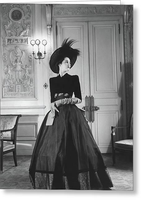 Portrait Of Countess Charles Emmanuel De La Greeting Card by Horst P. Horst