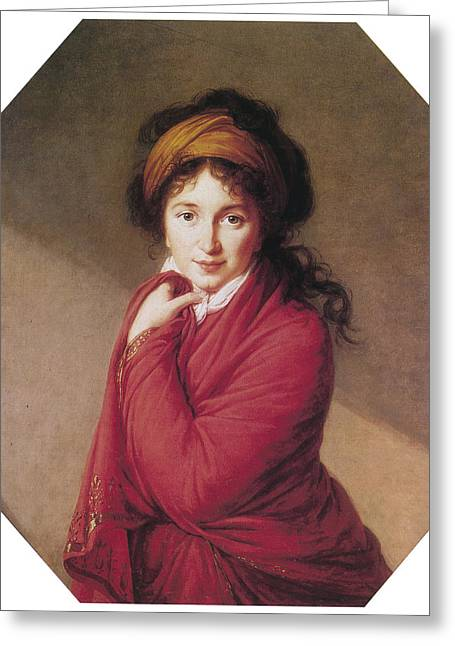 Portrait Of Countess Golovin Greeting Card by Marie Louise Elisabeth Vigee-Lebrun