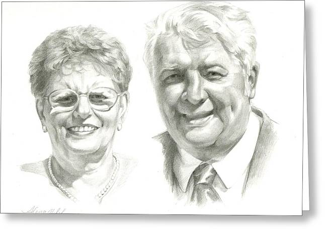 Portrait Of Couple. Commission. Greeting Card