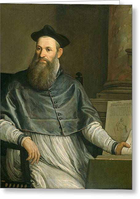 Portrait Of Daniele Barbaro Greeting Card by Paolo Caliari Veronese