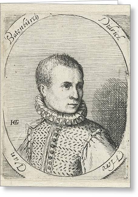 Portrait Of Diederik Van Bronckhorst Batenburg Greeting Card